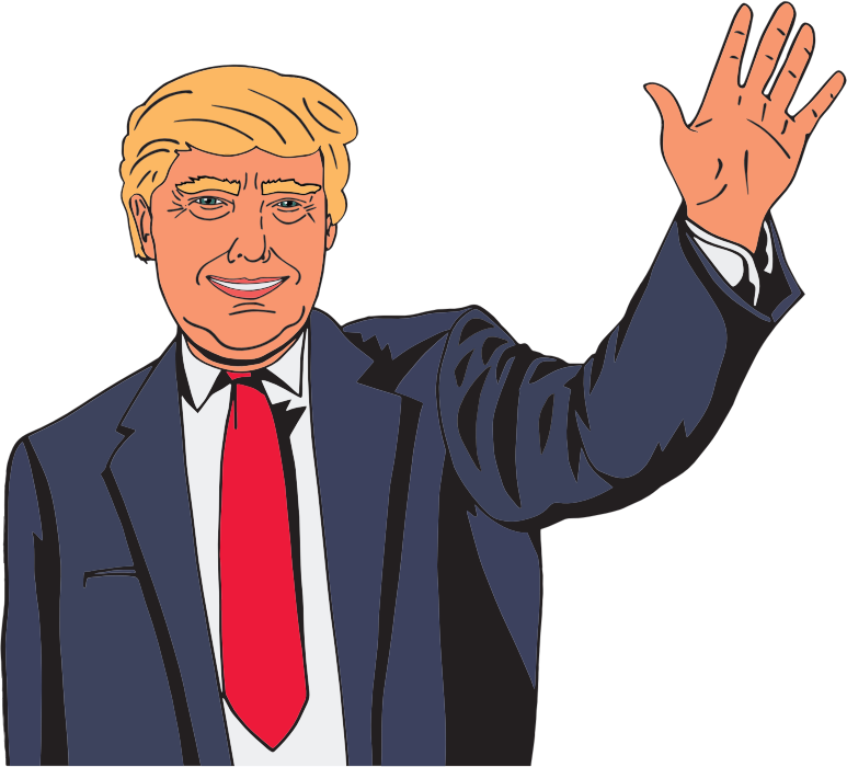 Politician clipart animated. Donald trump transparent png