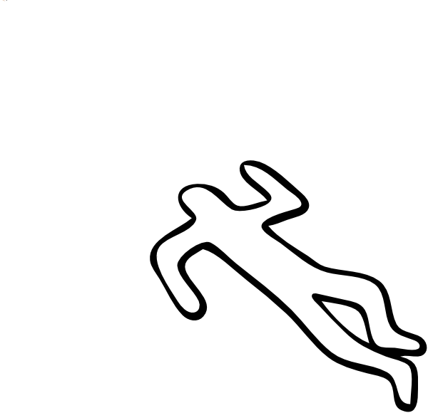 Outline of a man. Criminal clipart cartoon