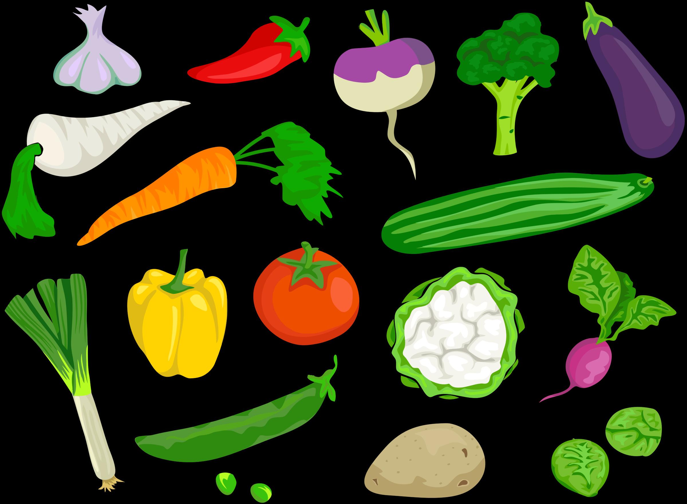 Smorgasboard of big image. Vegetables clipart sign