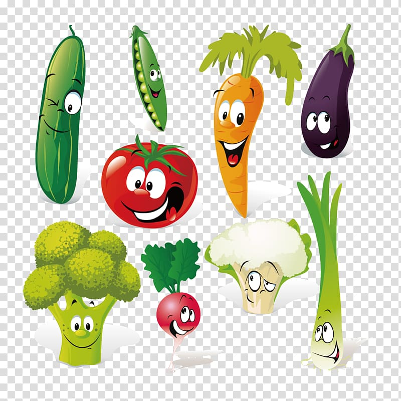 Vegetable cartoon creative people. Clipart vegetables person
