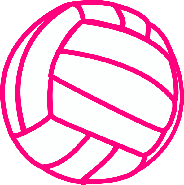 Volleyball clipart pink. Clip art at clker