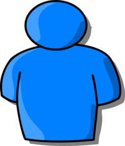 Number 1 clipart number person. Blue clip art at