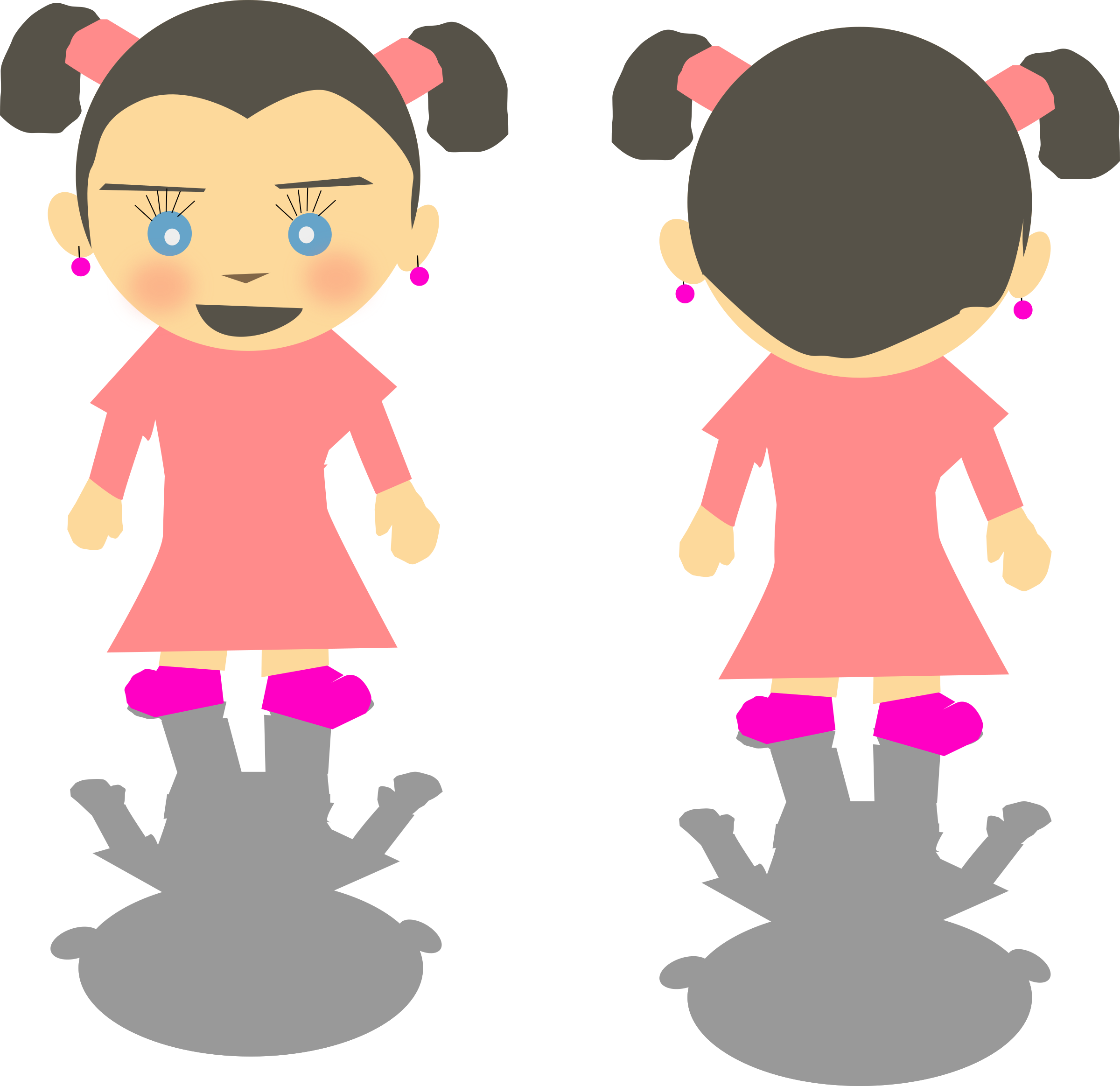 White girl png big. People clipart back