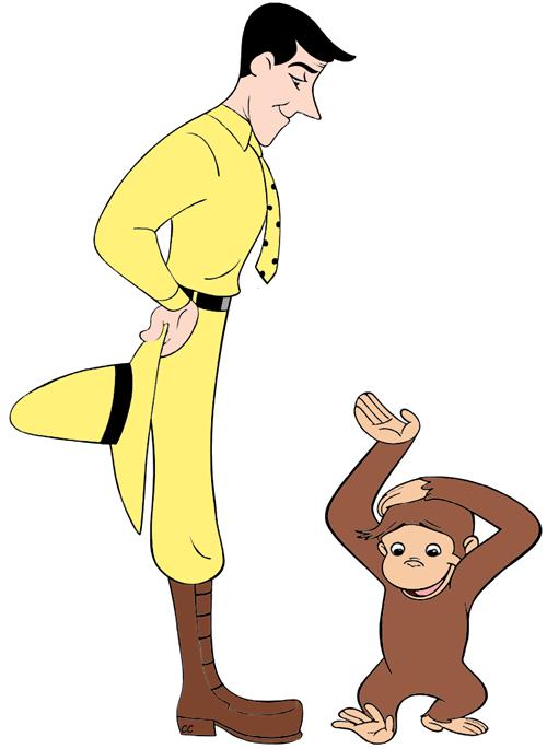 Clipart person banana. Curious george clip art