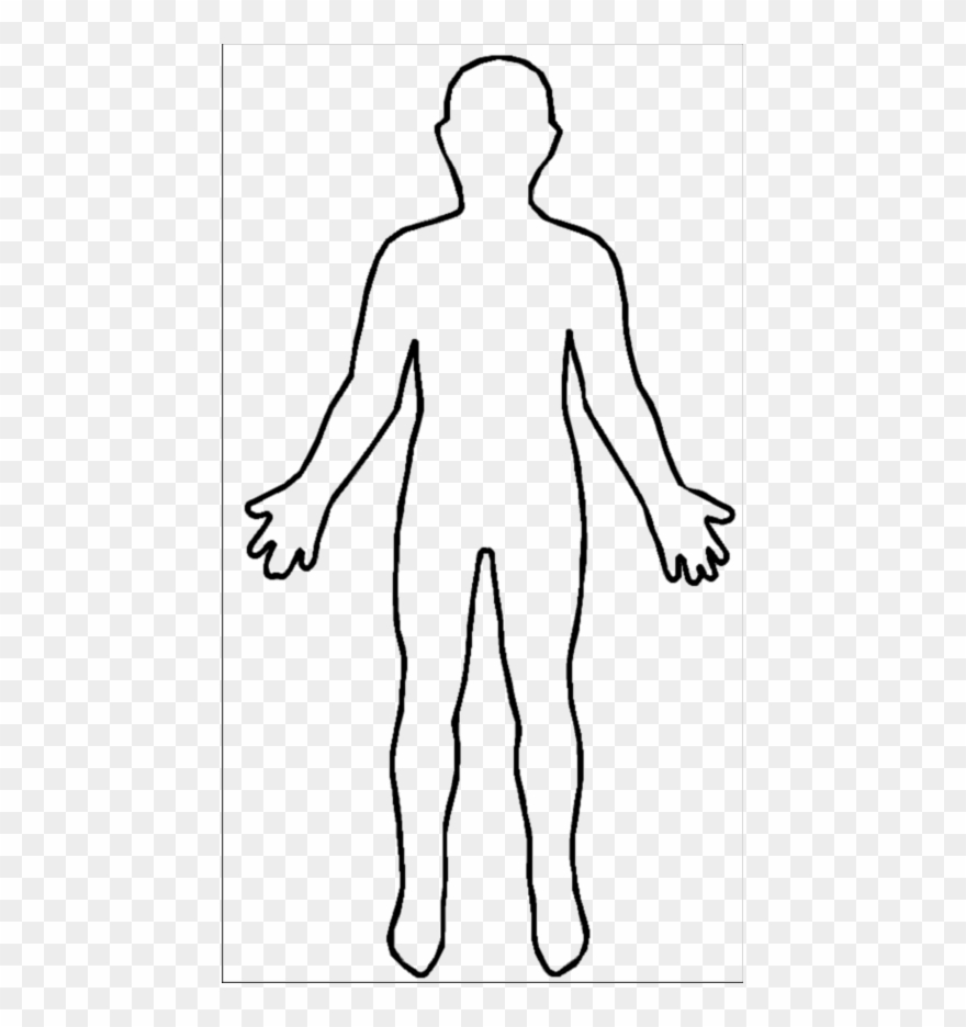 Human clipart human body. Outline pinclipart