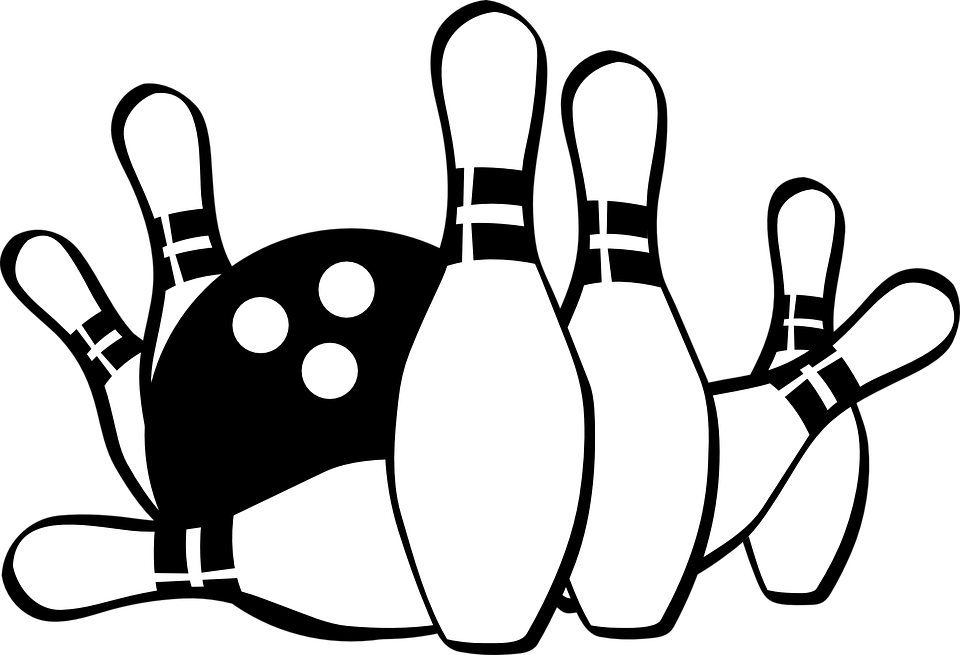 collection of cliparts. Retro clipart bowling