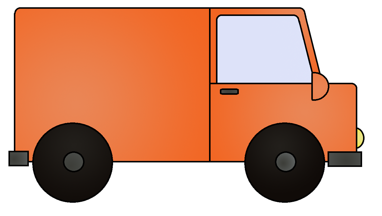 Vans orange car pencil. Minivan clipart van delivery