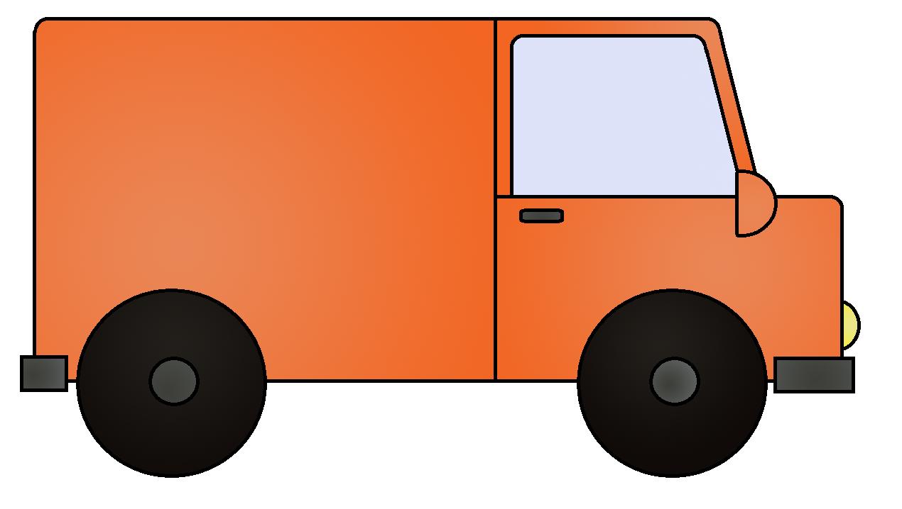 Vans orange car pencil. Minivan clipart van delivery