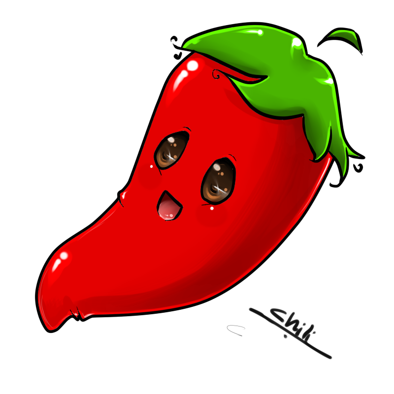 Chili pepper drawing at. Tree clipart chilli
