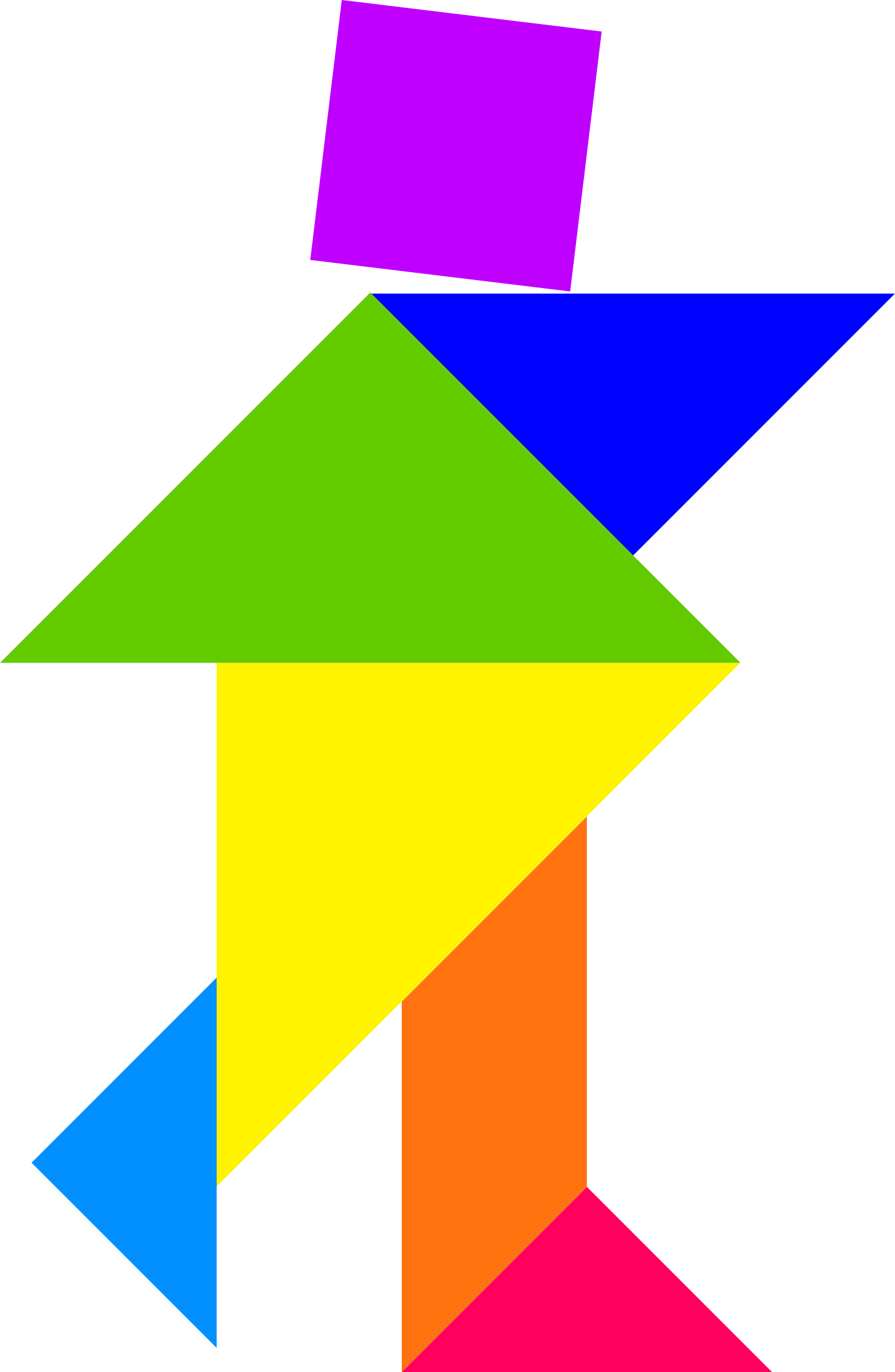 Tangram big image png. Clipart person color