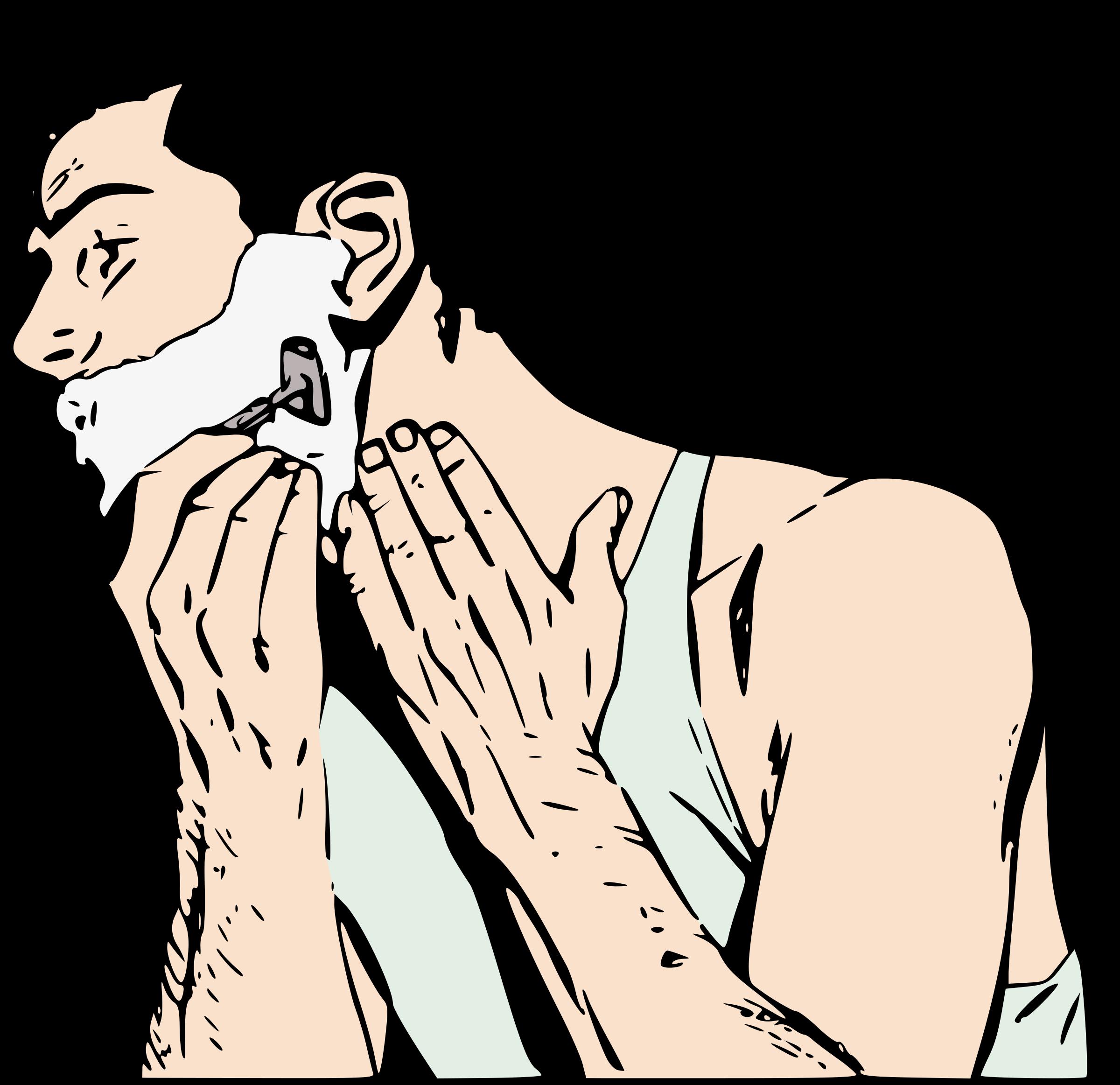 Male clipart realistic person. Man shaving colour big