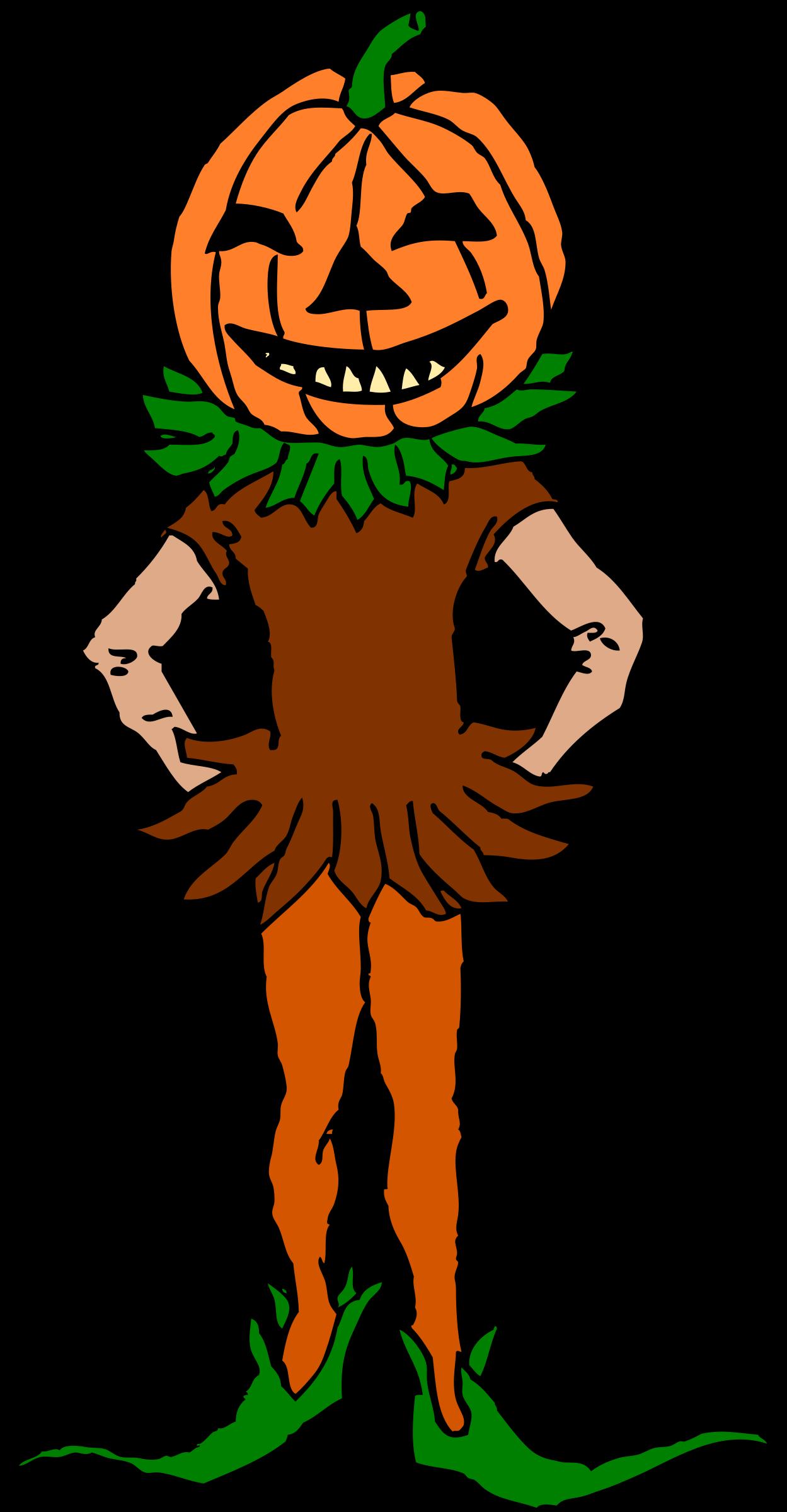 Clipart person color. Pumpkin boy version big