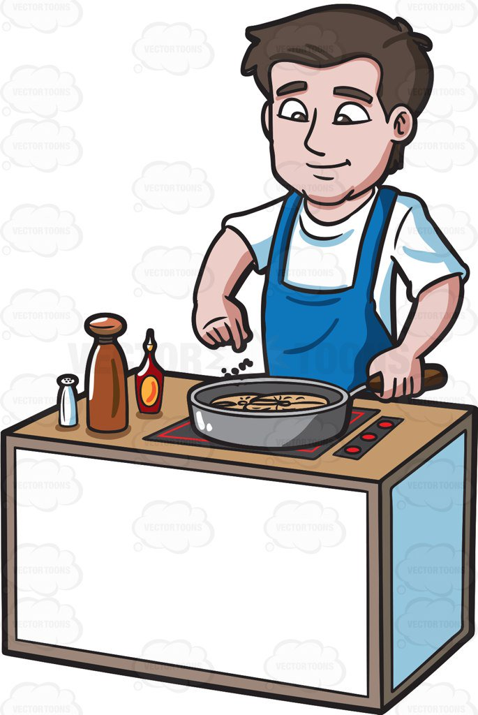 People portal . Cooking clipart male cook