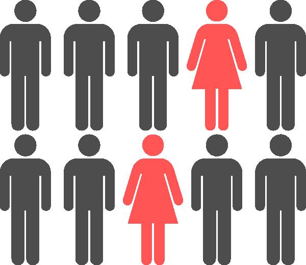Female clipart female gender. The token woman on