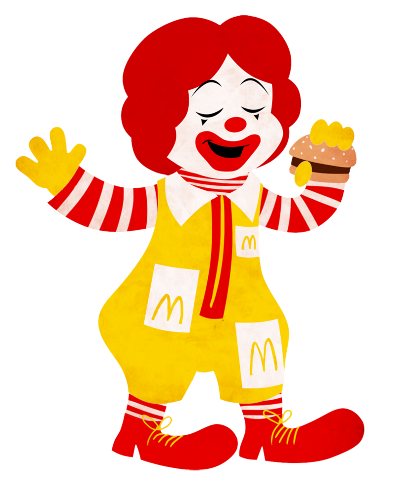 Ronald cutout by cavity. Clipart person cut out