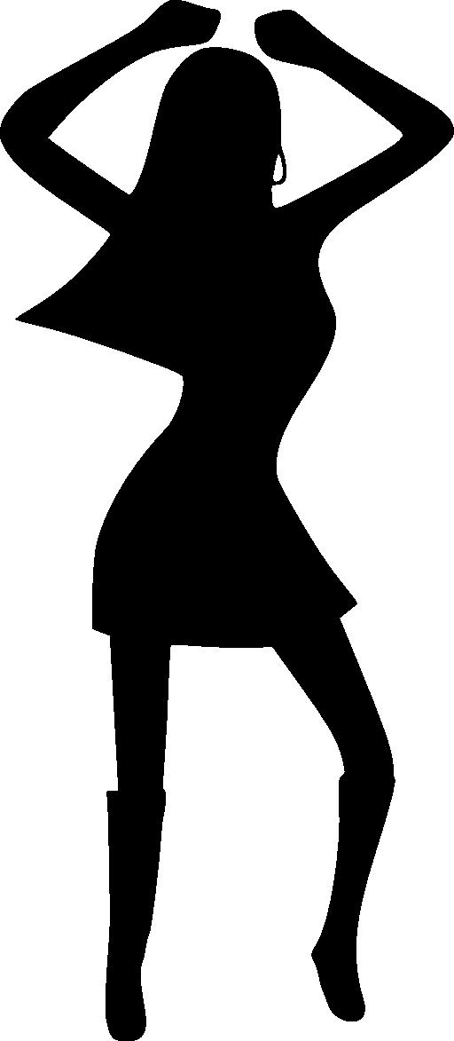Dance silhouette dancing clip. Square clipart kid