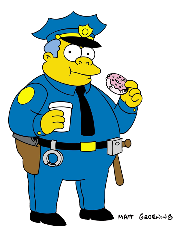 Witch clipart obese. Clancy wiggum simpsons wiki