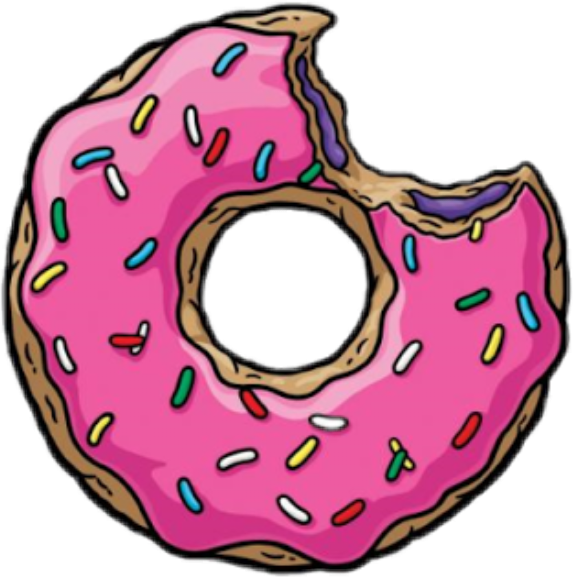 Donut clipart person. Eaten