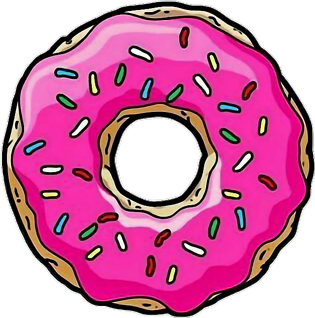 Tumblr homer sticker by. Donut clipart simpsons donut