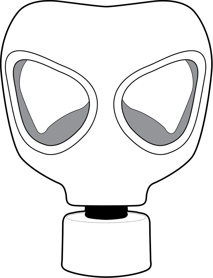 Clipart person easy. Gas mask free collection