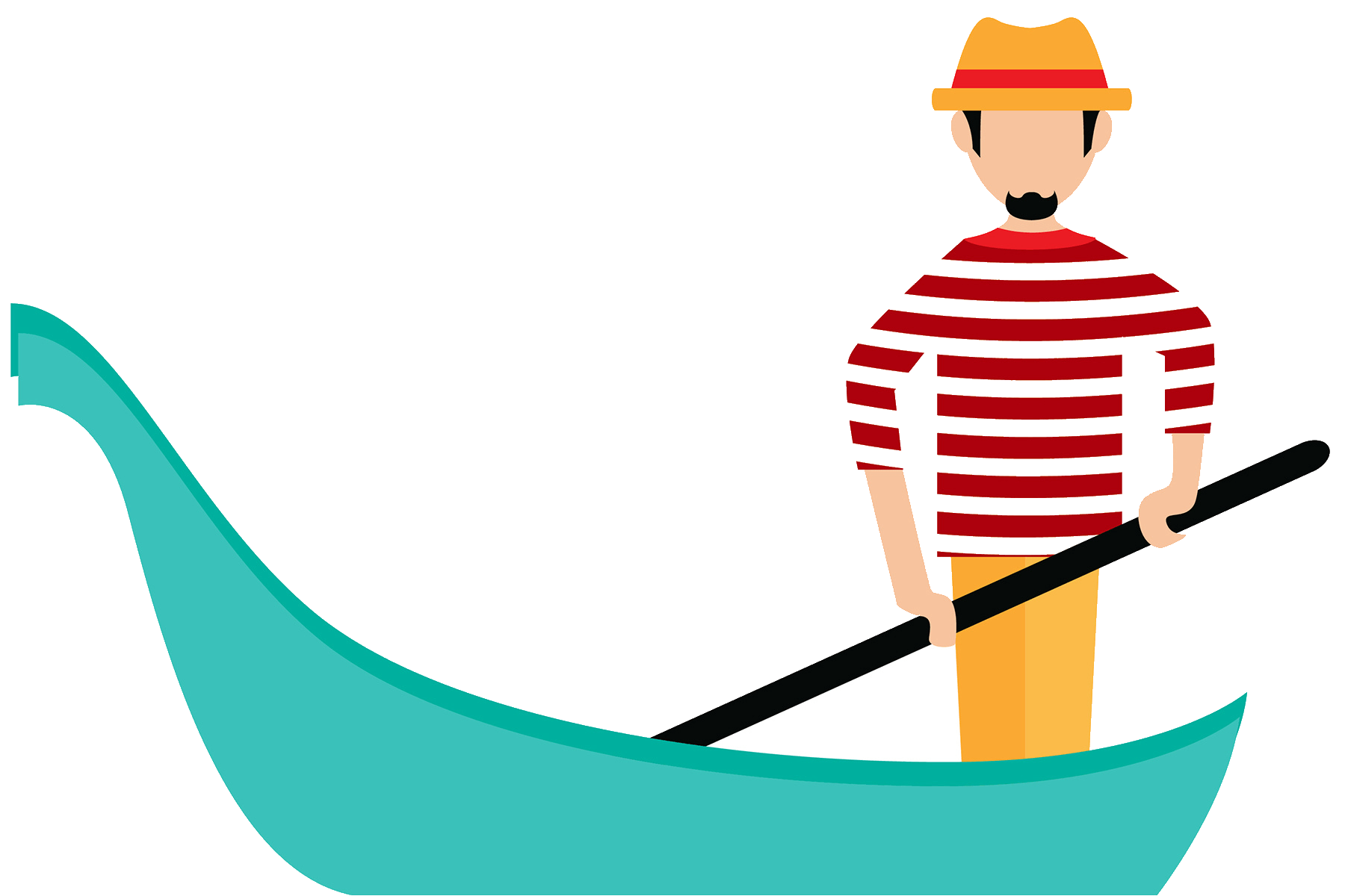 Clipart person easy. Gondola free download best