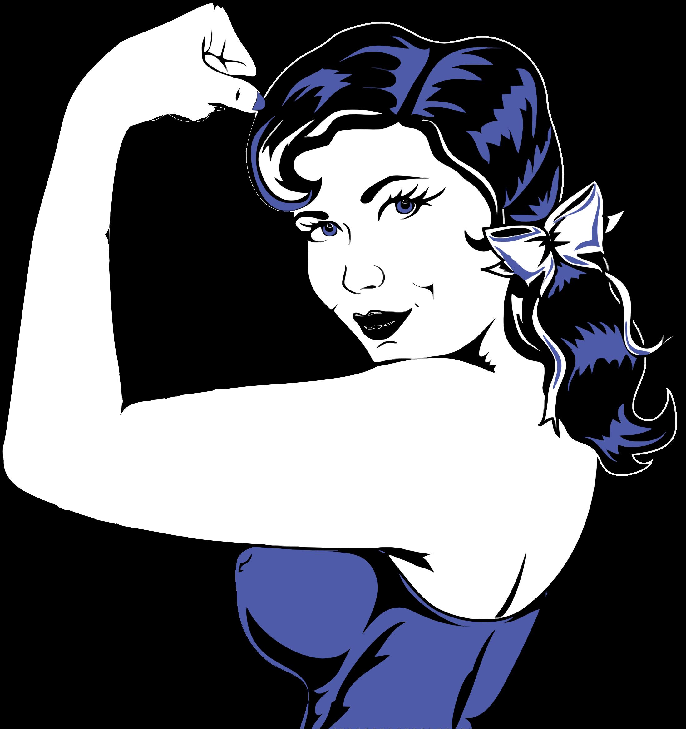 Flexing muscle big image. Politics clipart woman suffrage