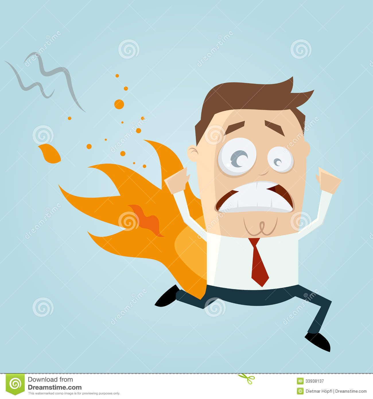 fire clipart person