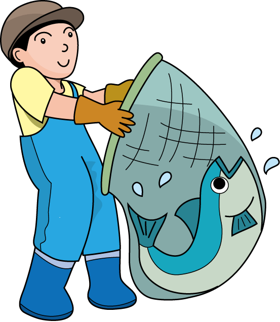collection of with. Lady clipart fisherman