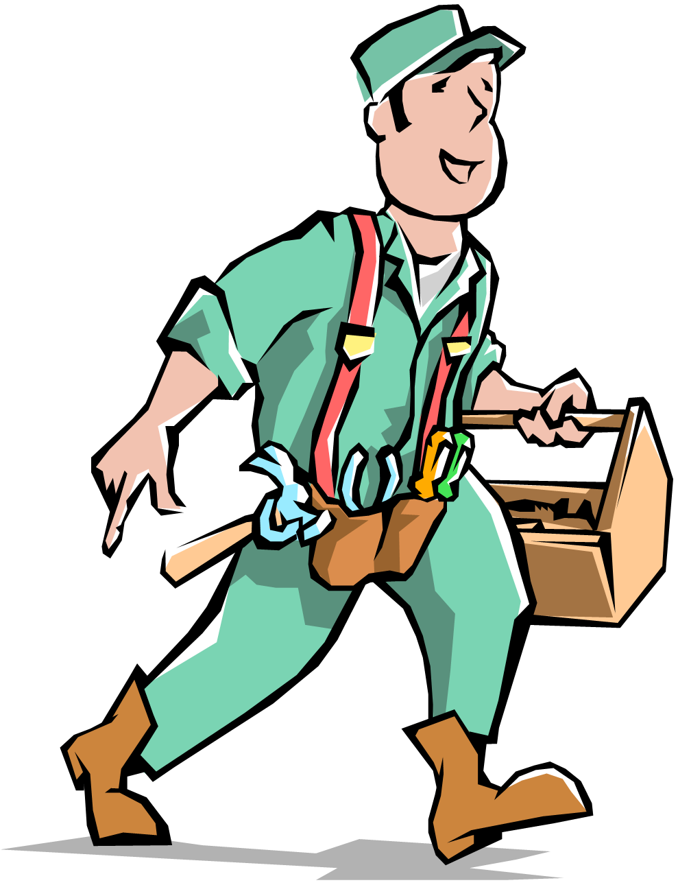 House builder guy clipground. Mechanic clipart hotel maintenance