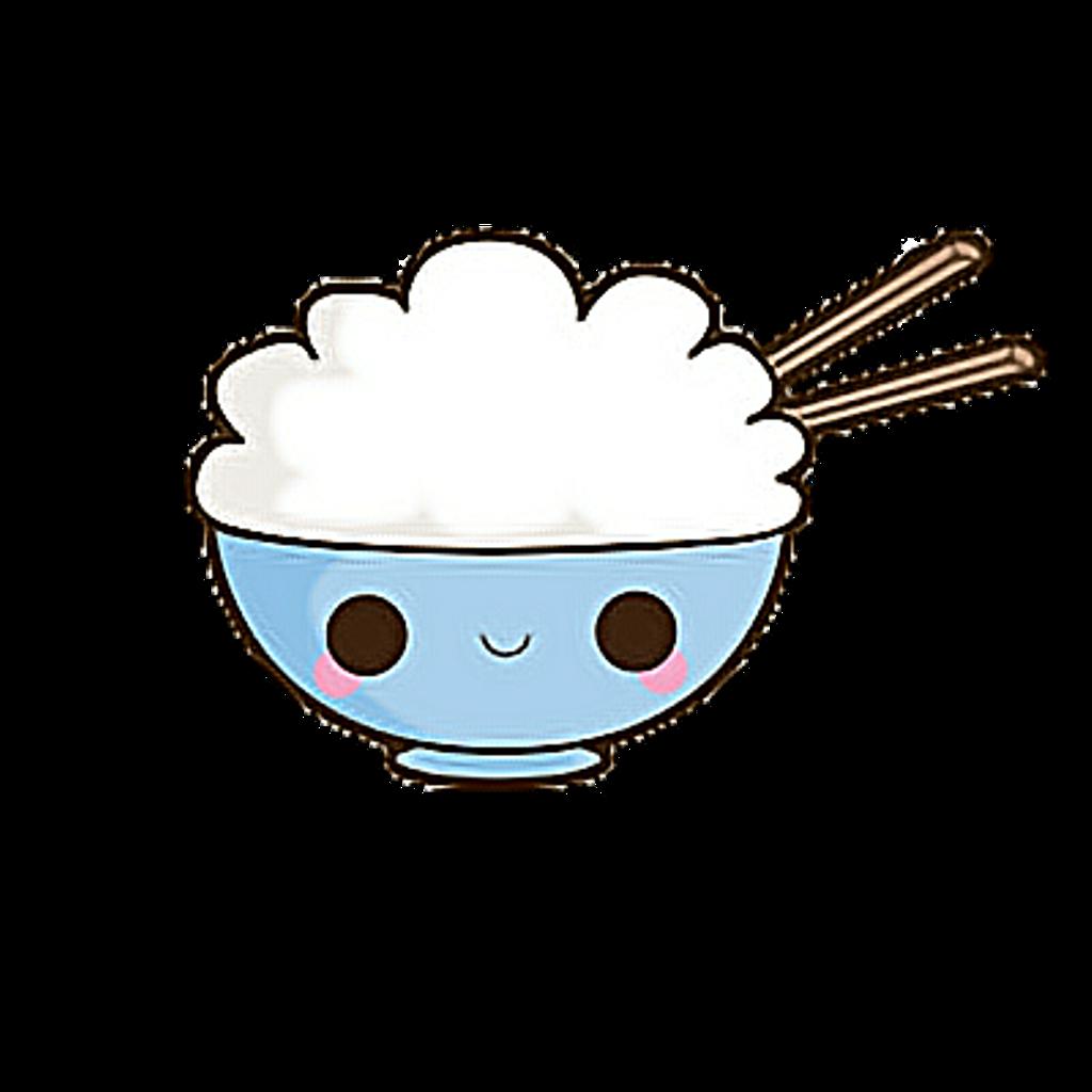 Clipart phone kawaii. Cute rice bowlfreetoedit