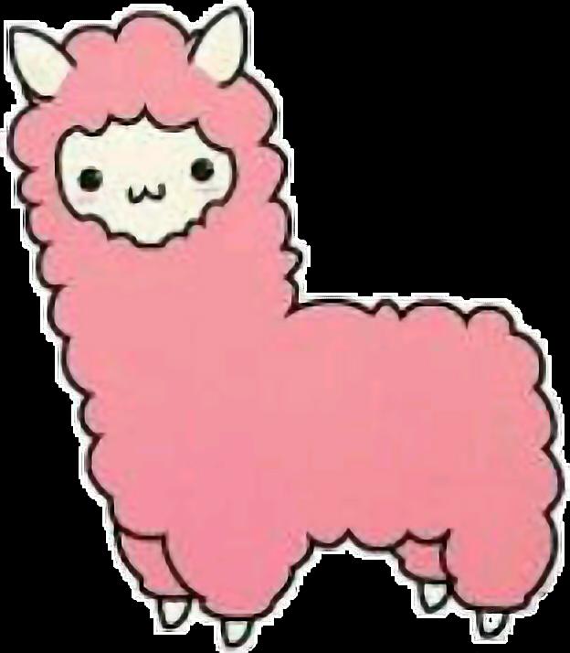 Alpaca clipart cute anime. Llama kawaii sticker by