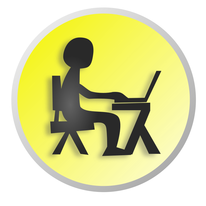 Person clipart laptop. Working with medium image