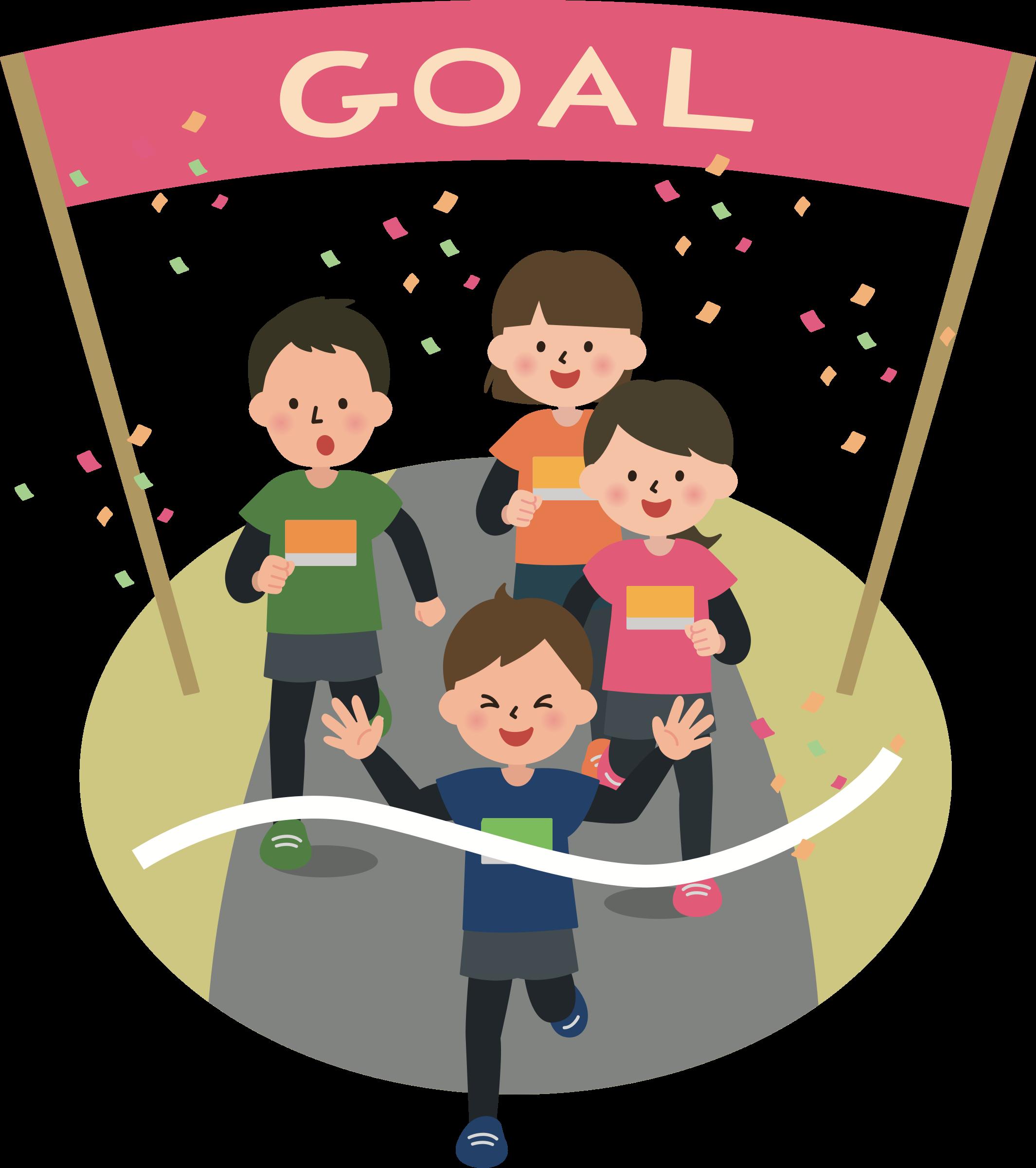 Goals clipart ambitious person. Finish line big image