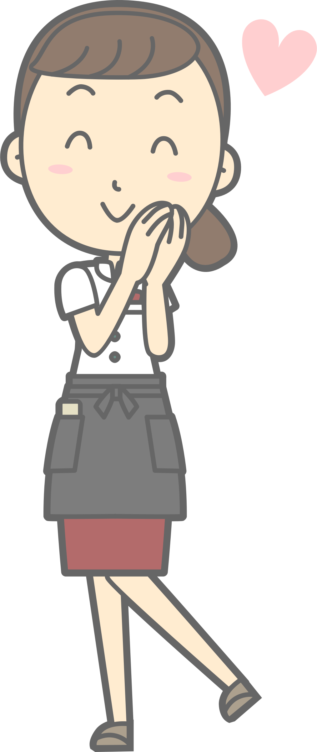 Lady clipart waiter. Young waitress in love