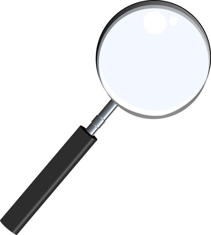 Magnifying book panda free. Clipart ruler glass