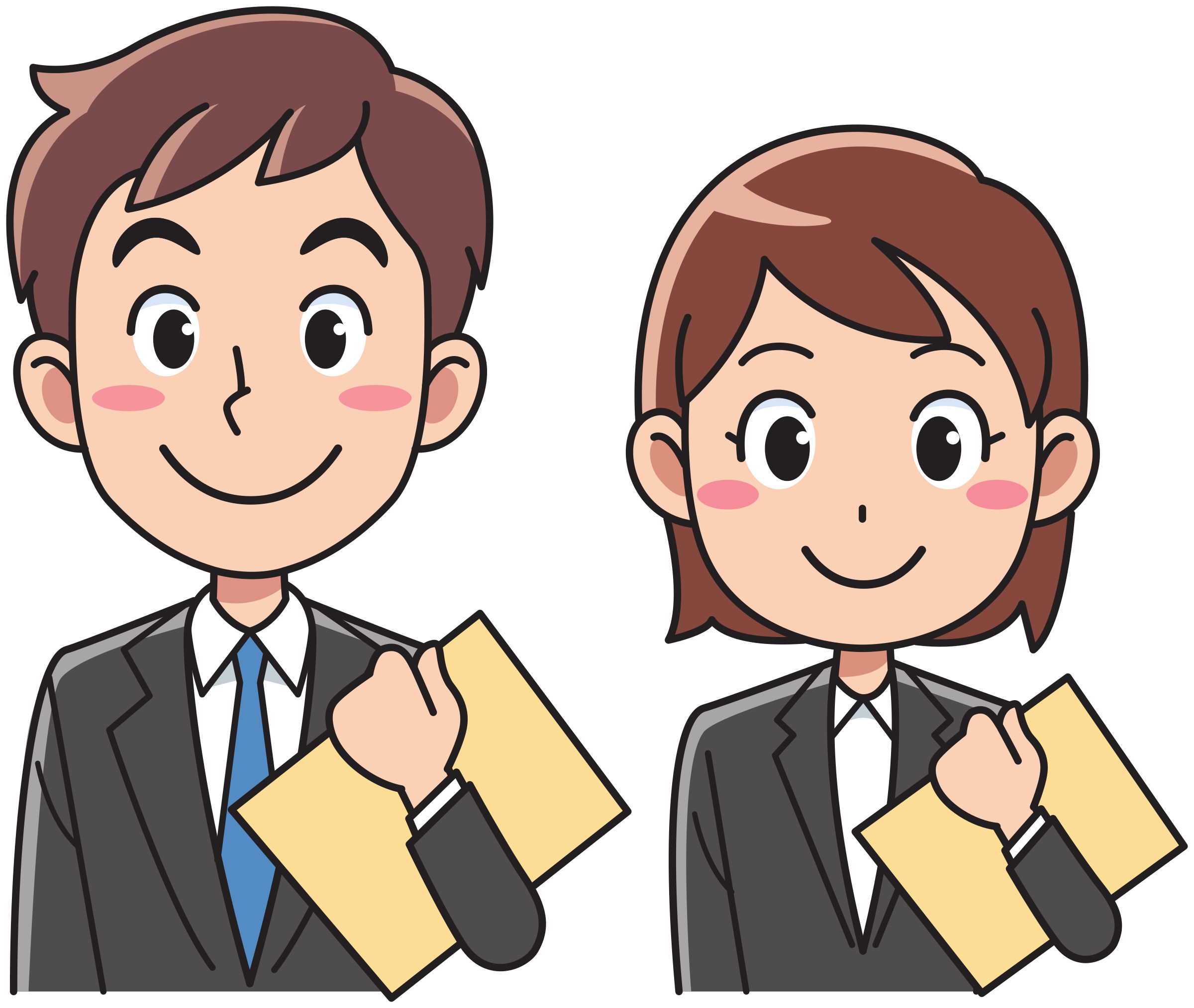Business man and woman. Person clipart female