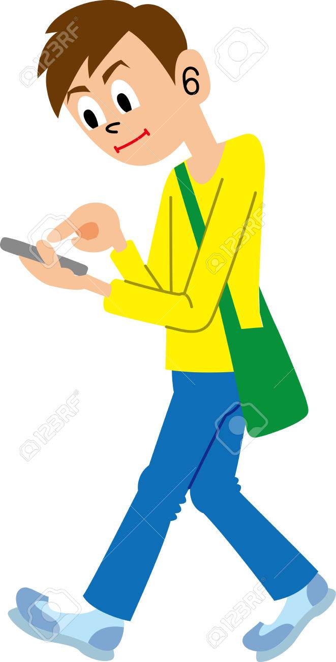 On station . Phone clipart person
