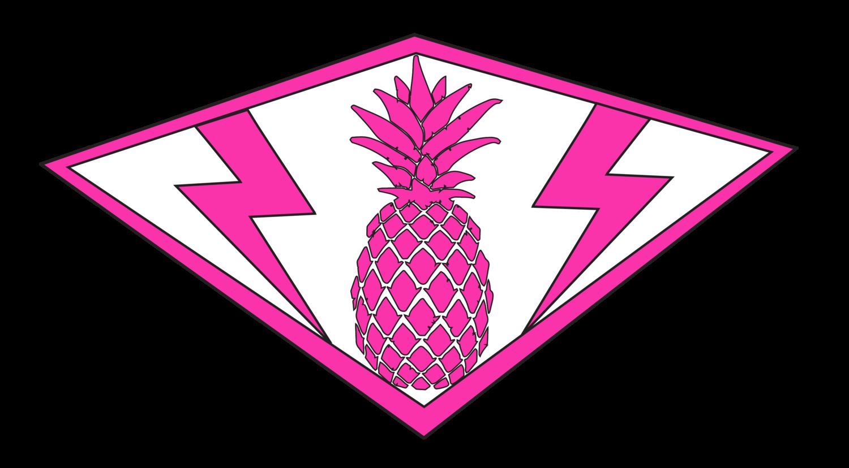 Surf pink pineapple. Schedule clipart summer