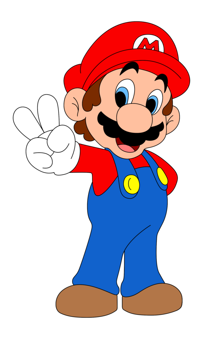 Person clipart printable. Mario