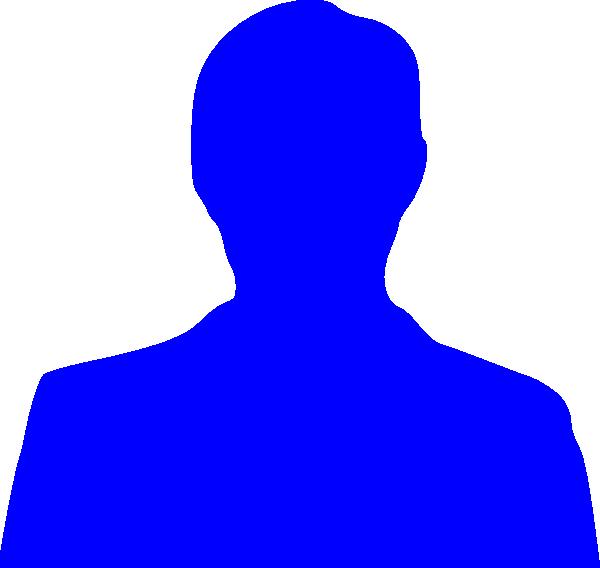 Neck clipart outline. Blue person clip art