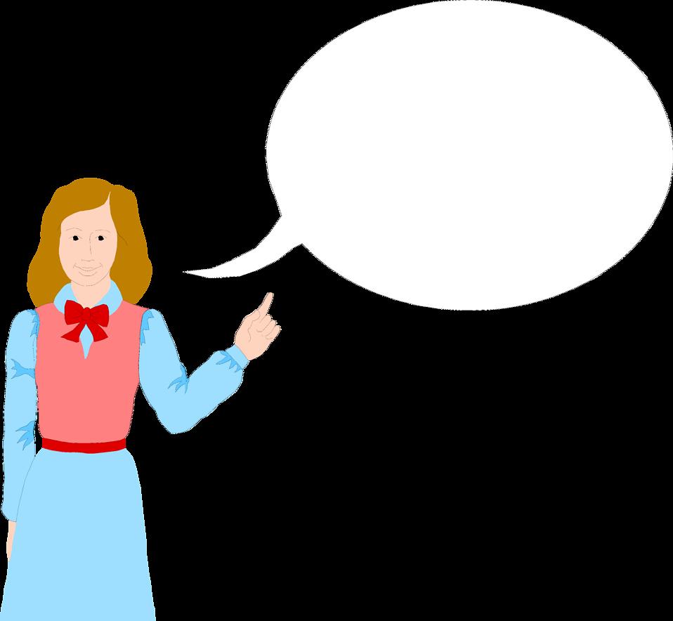 Cartoon free stock photo. Clipart person speech bubble