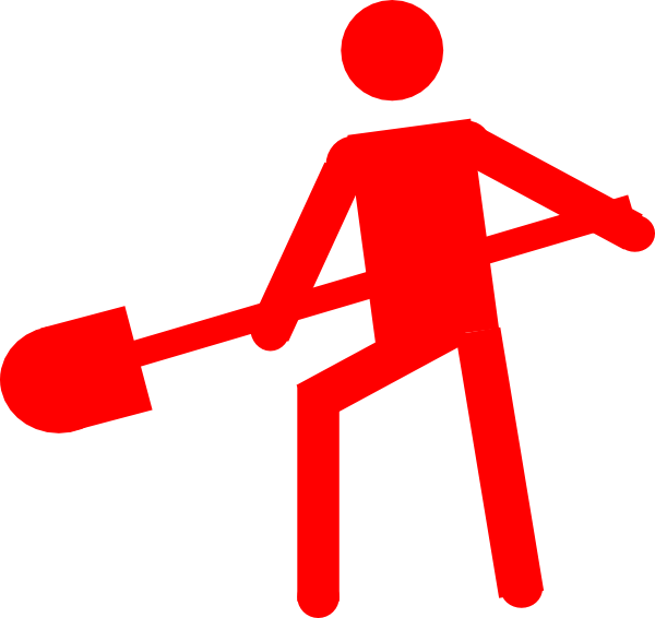 Red Person Worker Symbol Clip Art at Clker