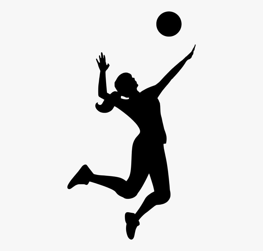 Silhouette sports download player. Clipart volleyball person