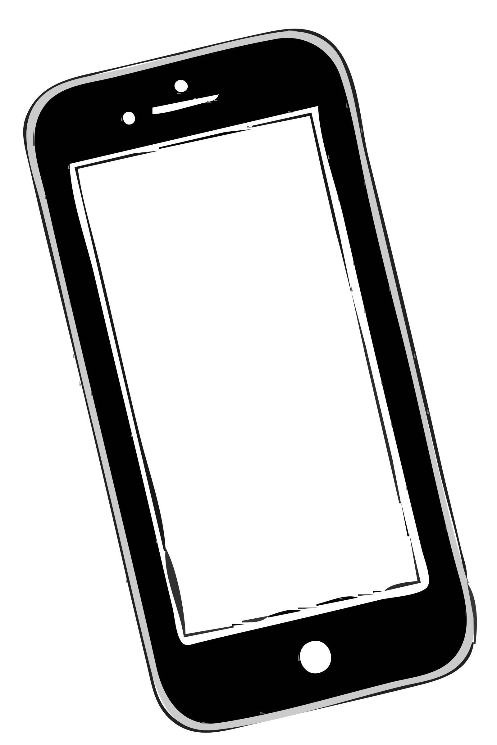 Clipart phone. Sending i to open