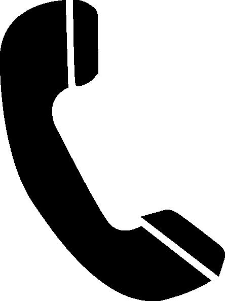 Black clip art at. Clipart phone
