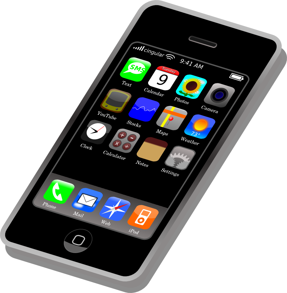 Cell phone app . Telephone clipart mobail