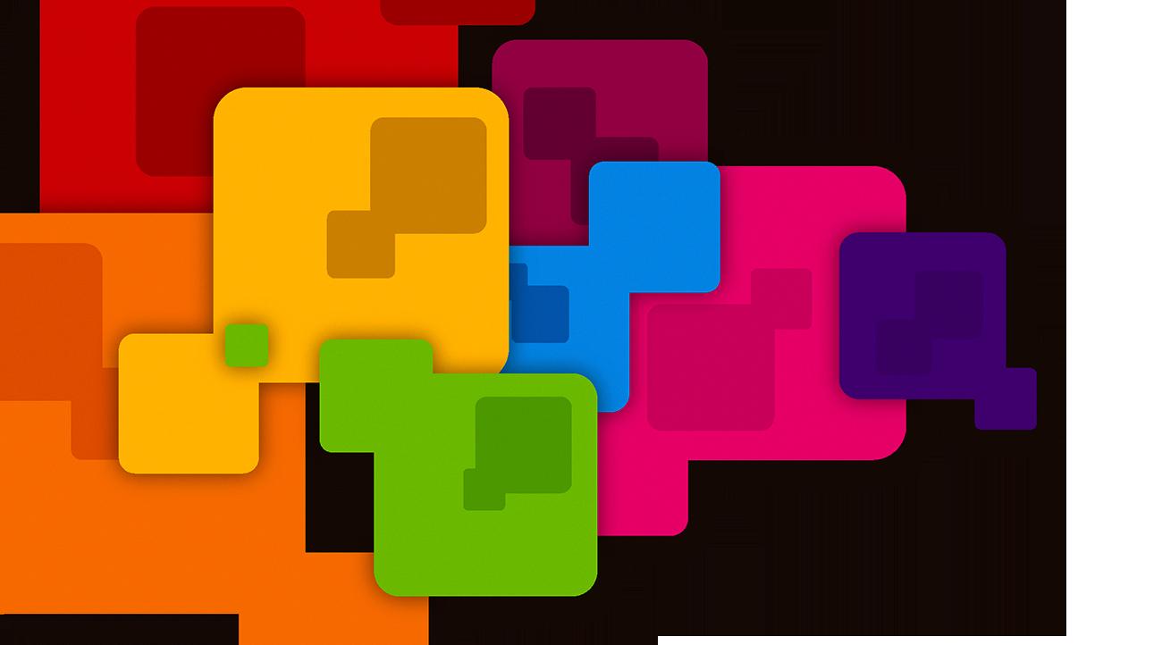 Color graphic design clip. Facebook clipart business card