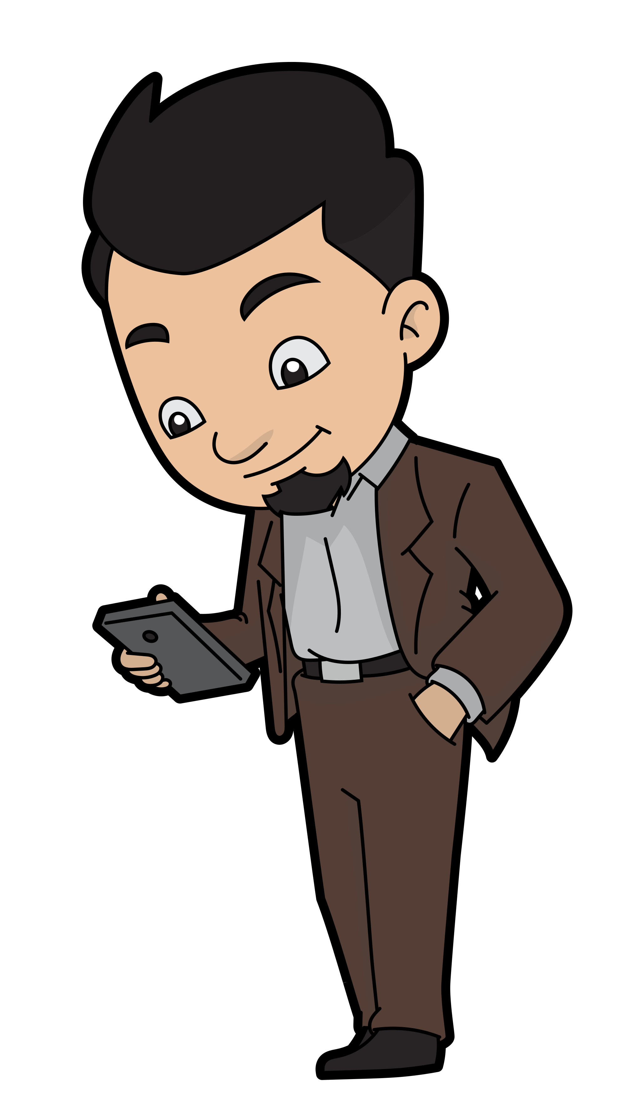 File a cartoon reading. Clipart phone businessman