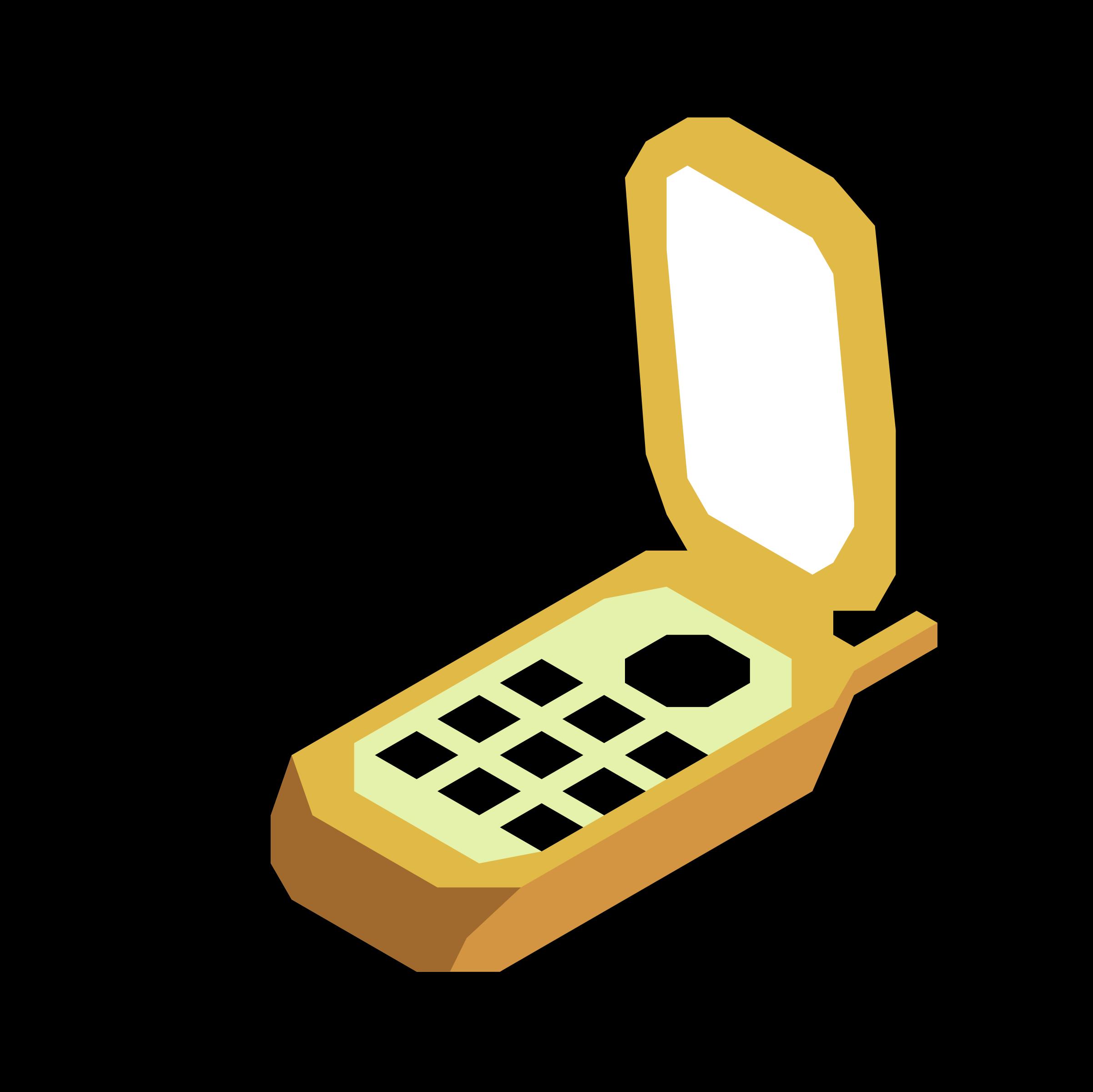 Clipart phone cartoon. Mobile big image png
