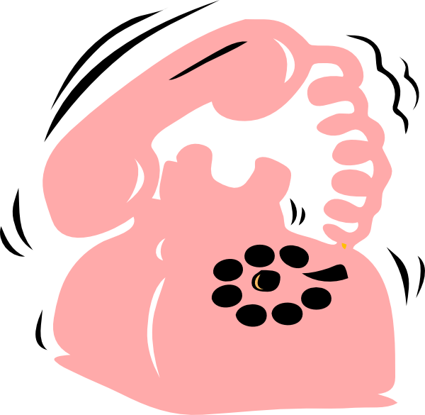 Telephone clipart teliphone. Pink phone clip art
